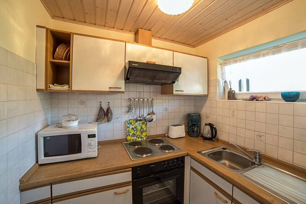 Kleine Küche in der Ferienwohnung