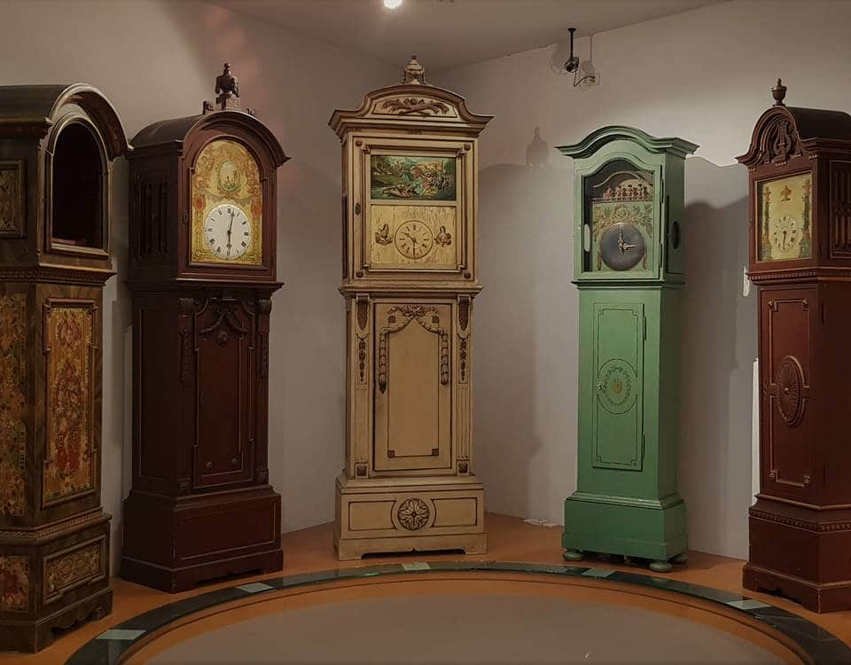 Standuhren im Deutschen Uhrenmuseum in Furtwangen