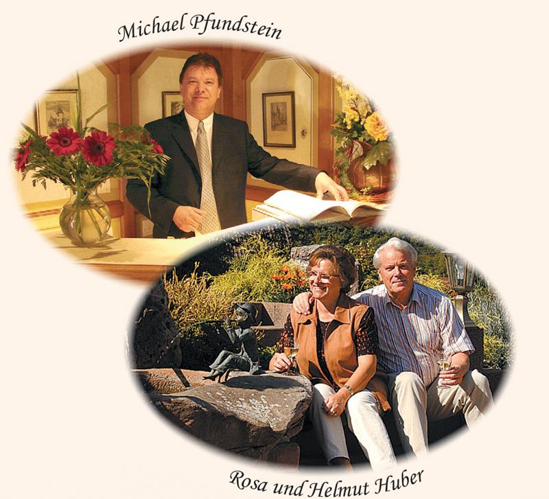 Bilder von Hotelchef Michael Pfundstein und Rosa und Helmut Huber