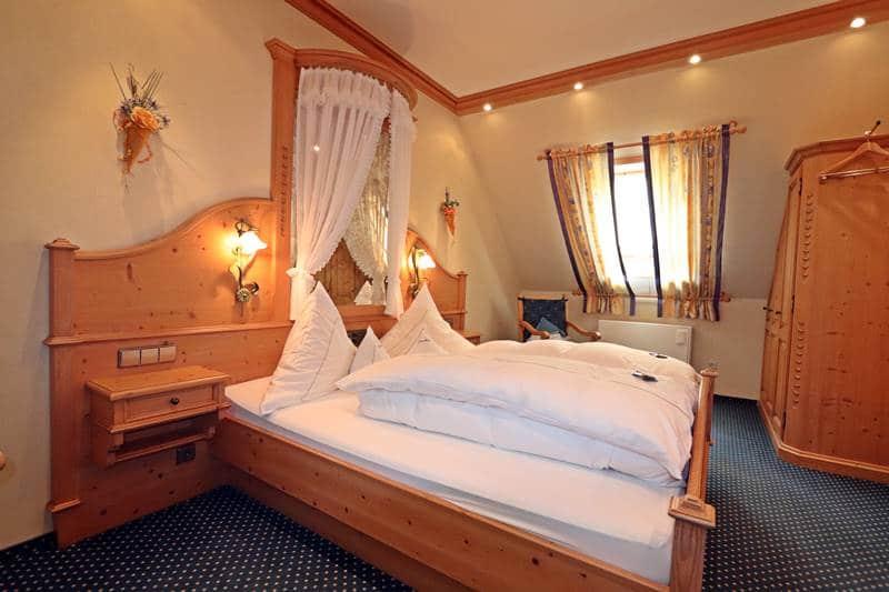 Himmelbett in der Ferienwohnung Landhaus