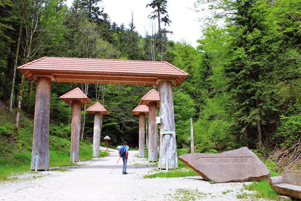 Allerheiligen Wasserfälle Eingangsportal